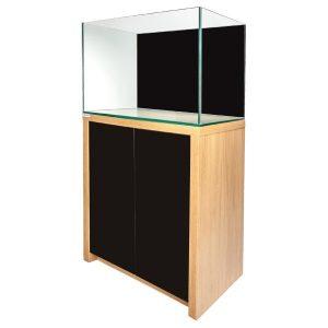 60cm Edgeline Aquarium & Cabinet -Lanc Oak & Black