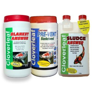 Cloverleaf Blanket Answer and Pre-Vent Blanketweed & 1L Sludgeclear Bundle
