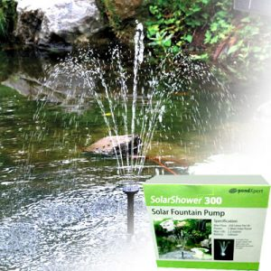 Pondxpert SolarShower- Solar Fountain Pump With Battery